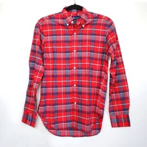 Ralph Lauren Boys Plaid Check Button Down Shirt